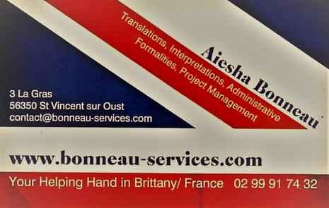 Carte de visite Bonneau Services